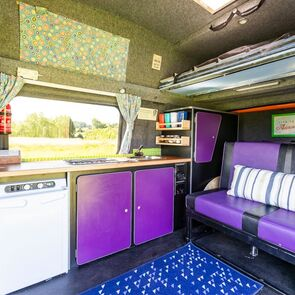 Lula the campervan - available to hire from Wanderlust Camper Co in Gloucestershire / Worcestershire / Herefordshire borders